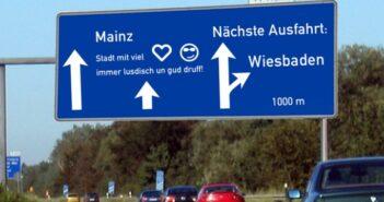 Die eebsch Seit: na klar weiß ich als Mainzer, wo die liegt. Wir mögen sie aber irgendwie doch, die Wiesbadener!