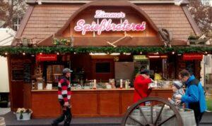 Currywurst und Spießbraten auf der Mainzer Eisbahn