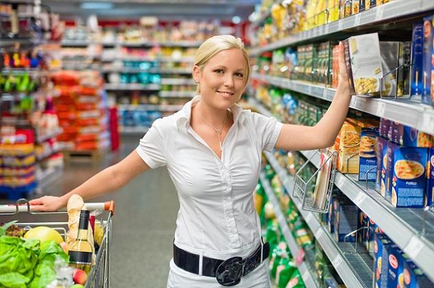 Beim direkten Vergleich von Supermarkt und Discounter fällt häufig die Ausstattung der Läden auf.(#02)