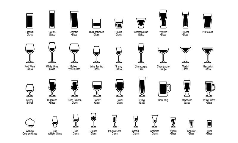 Glaeser Gastro Gewerbe: Für die unterschiedlichen Einsätze in der Gaststätte steht eine große Auswahl an Gläsern zur Verfügung. (#01)