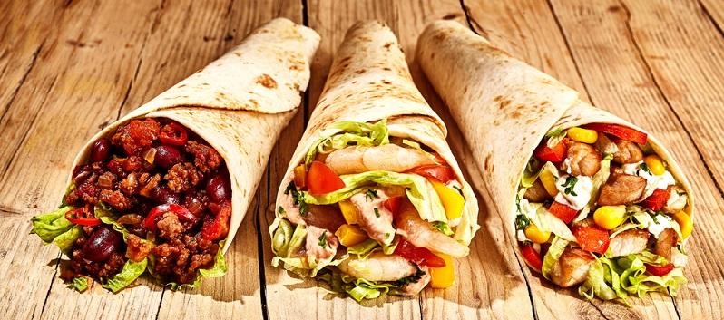 Wie scharf der Burrito tatsächlich ist, liegt in Ihrer Hand – geben Sie einfach weniger Chili und Zwiebeln hinzu, wenn Sie es lieblicher mögen. (#04)