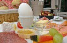 Frühstück im Café Rheingenuss in Ginsheim: Das wurde uns aufgetischt.