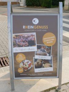 Das Café Rheingenuss in Ginsheim. Offenbar ein bereits recht bekannter Geheimtipp.