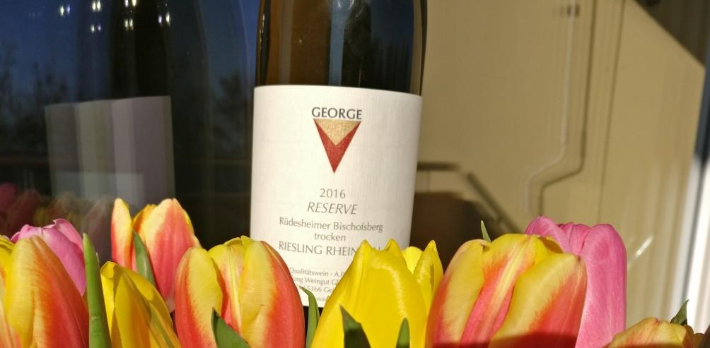 Meine Beute aus der Weinraumwohnung: der 2016er Rüdesheimer Bischofsberg des Weingut George J.J.J. Wagenitz aus Geisenheim
