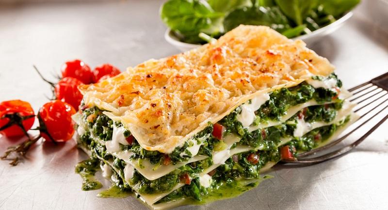 Lasagne mit Spinat und Käse prima auch in der vegetarischen Variante