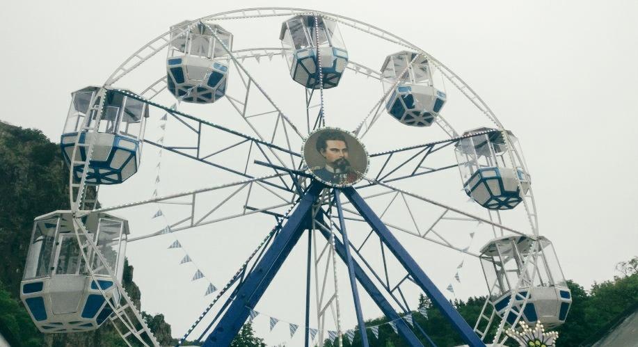 """Ein Riesenrad war auch auf dem """"Lebenslust"""" Gourmet- und Kunstfestival. Doch dafür war kein Raum mehr. Die Sinnesfreuden ließen uns bereits zur Genüge abheben."""