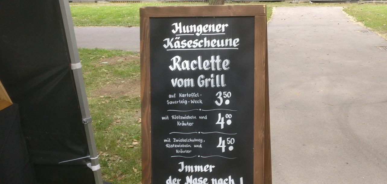 """Die Hungener Käsescheune  auf dem """"Lebenslust"""" Gourmet- und Kunstfestival im Kurpark in Bad Münster am Stein"""