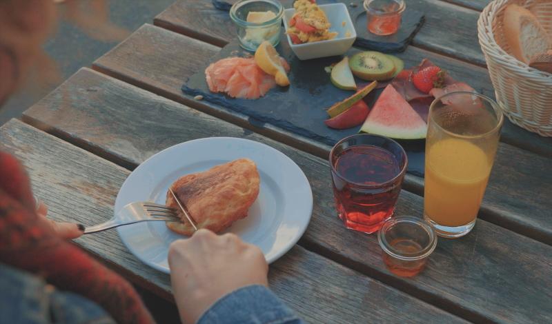 Das kanadische Frühstück mit Pancakes ist eines der Highlights im Krokodil