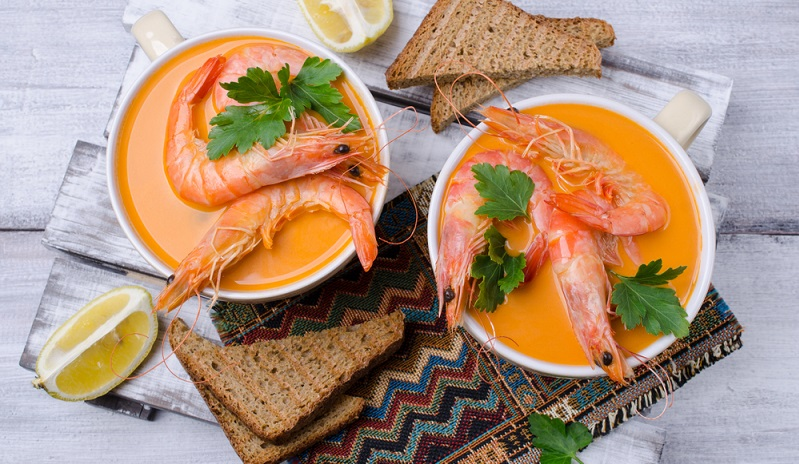 Garnelen und Kürbis, einfach raffiniert – in der Suppe ein absolutes Traumpaar.